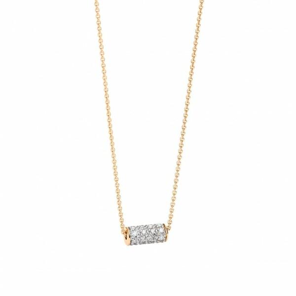 Collier GINETTE NY MINI STRAWS en or rose et diamants
