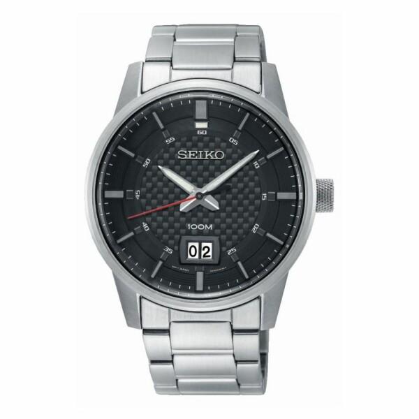 Montre Seiko Sport 3 aiguilles double guichet date SUR269P1