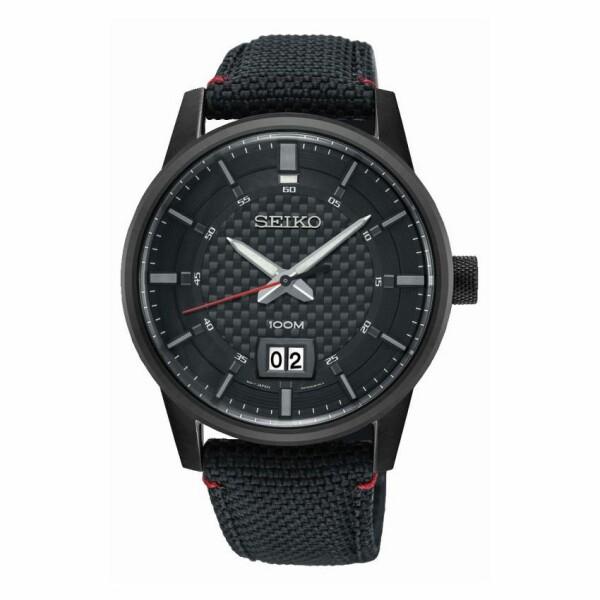 Montre Seiko Sport 3 aiguilles double guichet date SUR271P1