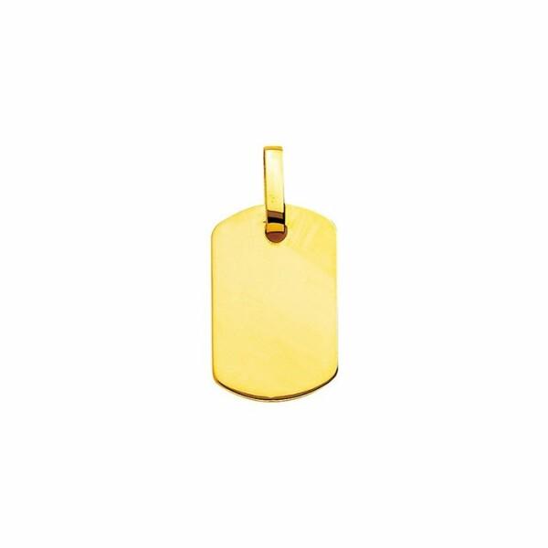 Plaque d'identité tonneau en or jaune
