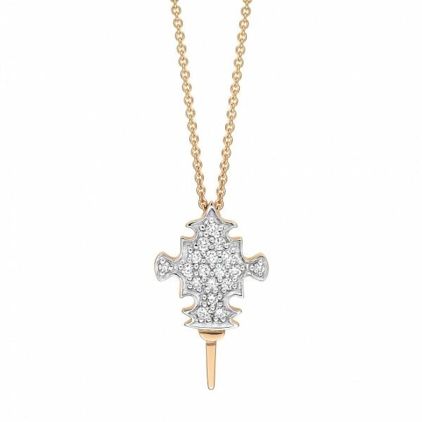 Collier GINETTE NY TANGER en or rose et diamants
