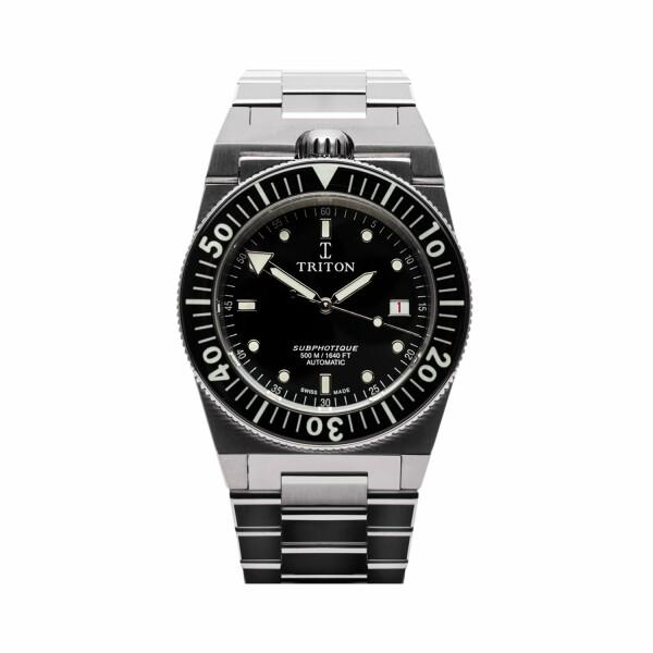 Montre Triton Subphotique Classique Classic Black TR-01