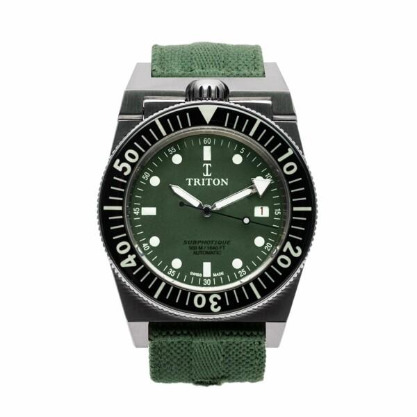 Montre Triton Subphotique Série Limitée Navy Green Triple Black