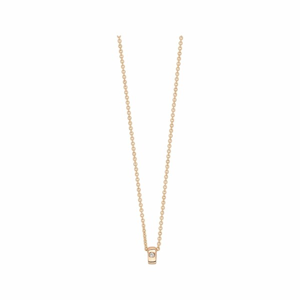 Collier GINETTE NY MINI TUBE & DIAMOND en or blanc et diamant