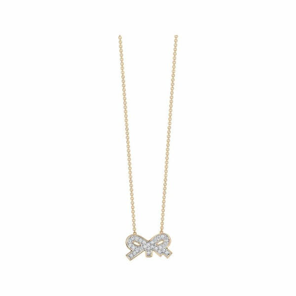 Collier GINETTE NY TINY DIAMS en or rose et diamant