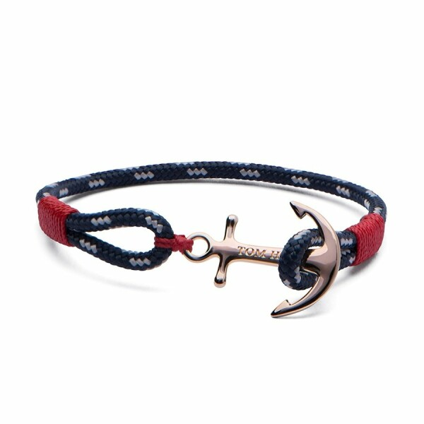 Bracelet Tom Hope Pacific Red L bleu, rouge en plaqué or rose