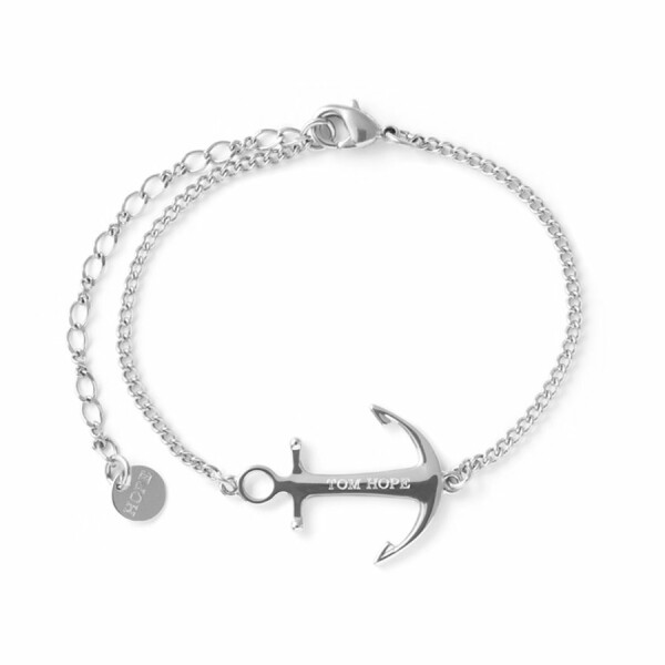 Bracelet Tom Hope Saint en acier argenté