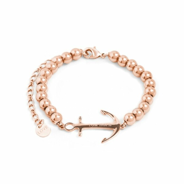 Bracelet Tom Hope Saint Perline en plaqué or rose