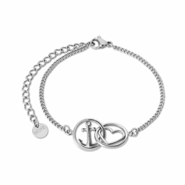 Bracelet Tom Hope Love and hope en acier