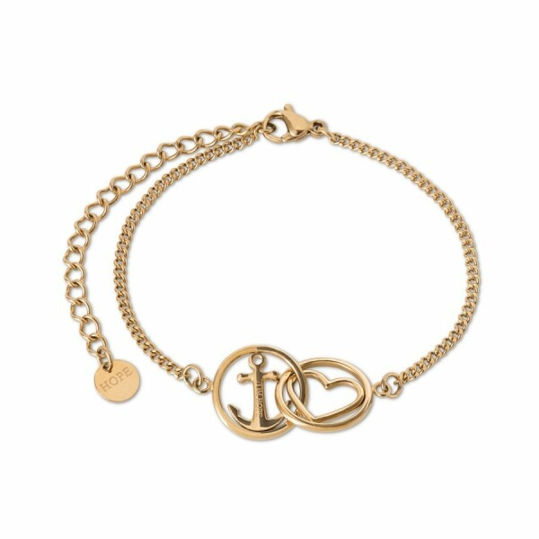 Bracelet Tom Hope Love and hope en plaqué or jaune