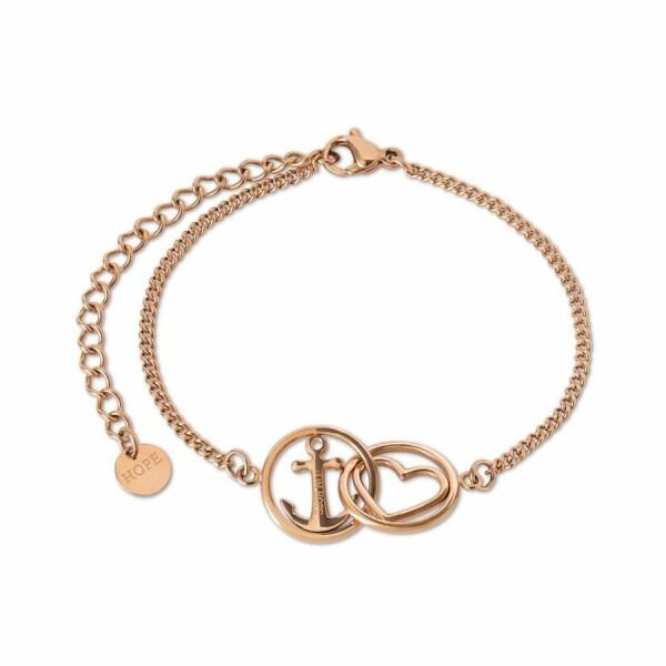 Bracelet Tom Hope Love and hope en plaqué or rose