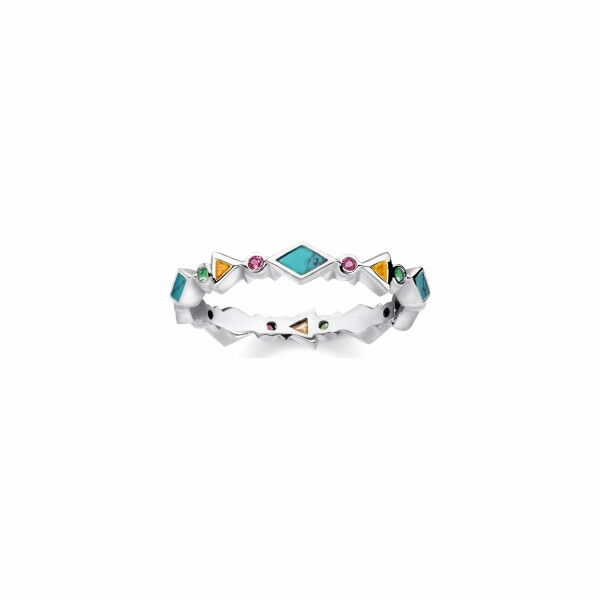 Bague Thomas Sabo en argent et pierres multicolores