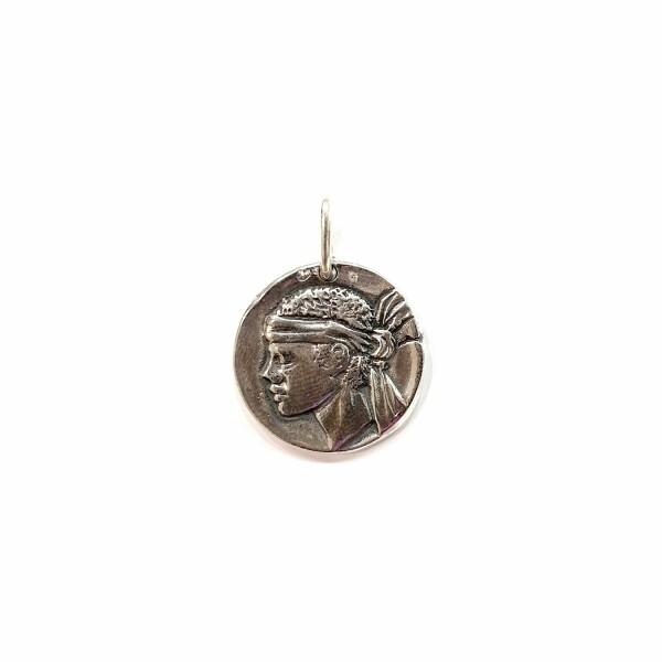 Médaille Corse Mariotti Calvi Tête de Maure en argent, 20mm