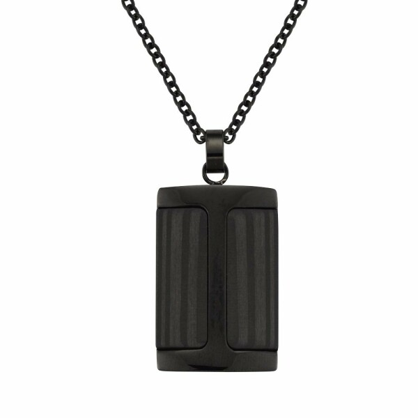 Collier Jourdan Bijoux Rigel en acier et carbone