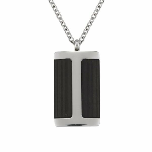 Collier Jourdan Bijoux Deneb en acier et carbone