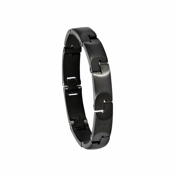 Bracelet Jourdan Bijoux Jin-Jang en acier plaqué noir