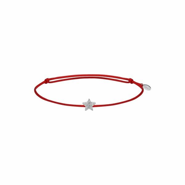 Bracelet Djula Fil Mini Etoile en or blanc et diamants