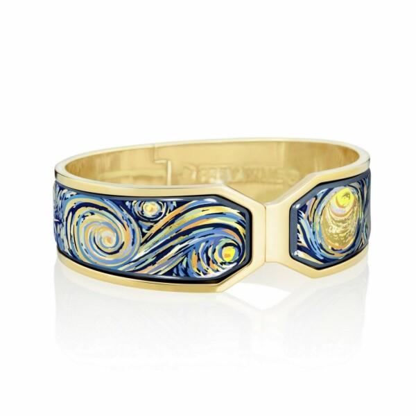 Bracelet FREY WILLE Hommage à Vincent van Gogh - Eternité en email plaqué or jaune, taille M