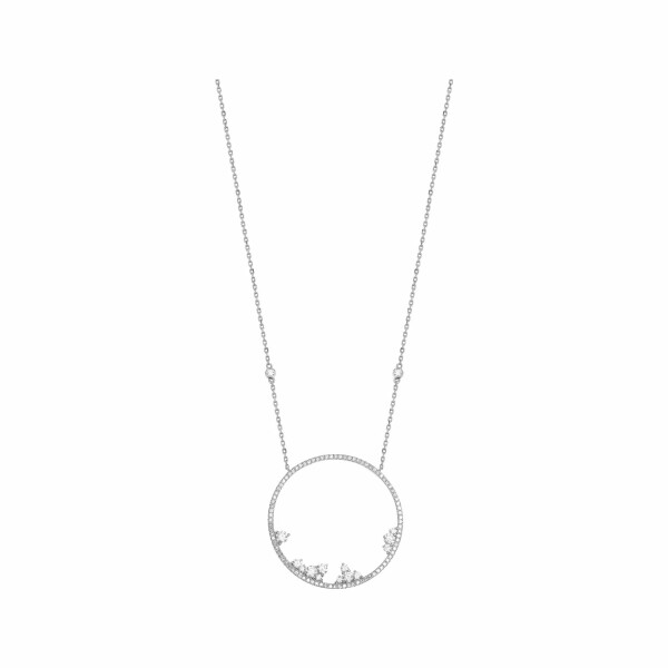 Collier Djula Fairytaile Cercle en or blanc et diamants