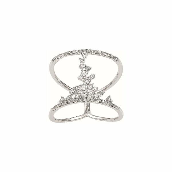Bague Djula Fairytaile 2 Anneaux en or blanc et diamants