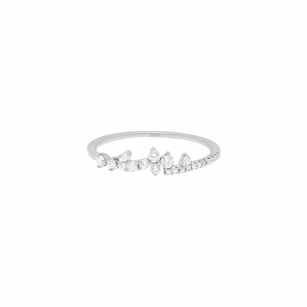 Alliance Djula Fairytaile en or blanc et diamants