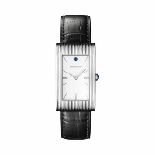 Montre Boucheron Reflet Large, bracelet alligator noir