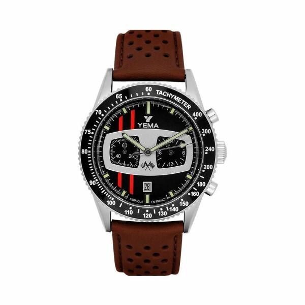 Coffret de montre Yema Rallygraf Asphalte II YMHF1479C et bracelet supplémentaire caoutchouc