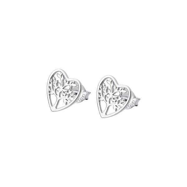 Boucles d'oreilles Lotus Silver Tree Of Life en argent