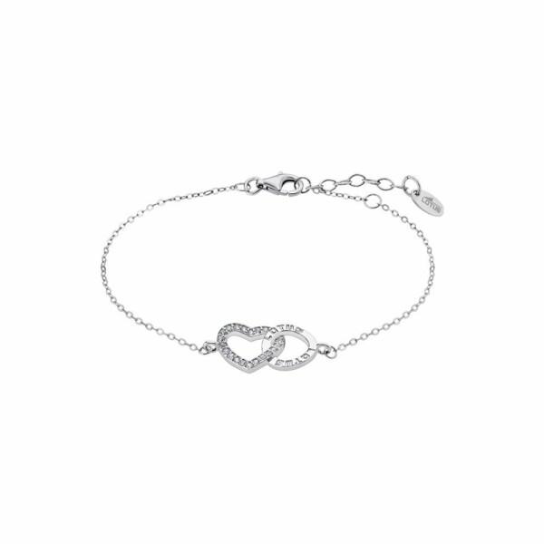 Bracelet Lotus Silver Moments en argent et strass