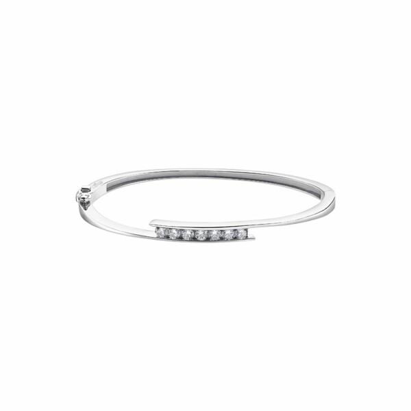 Bracelet Lotus Silver Pure Essential en argent et strass