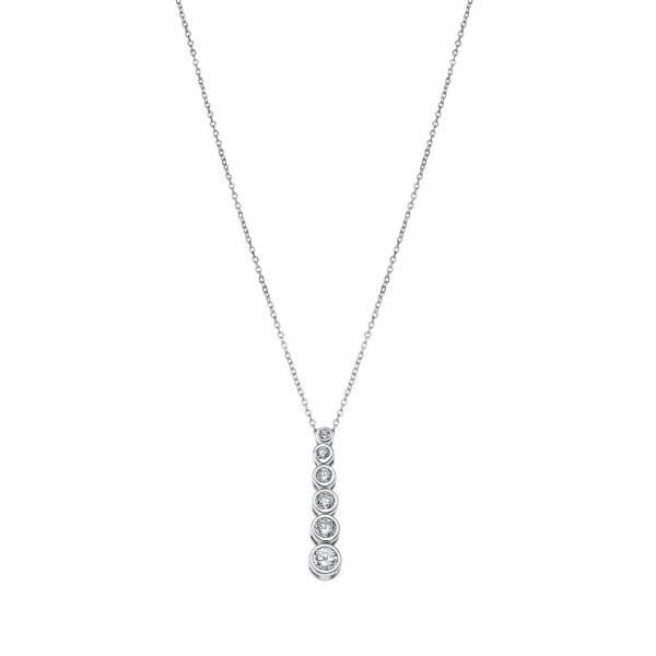 Collier Lotus Silver Pure Essential en argent et strass