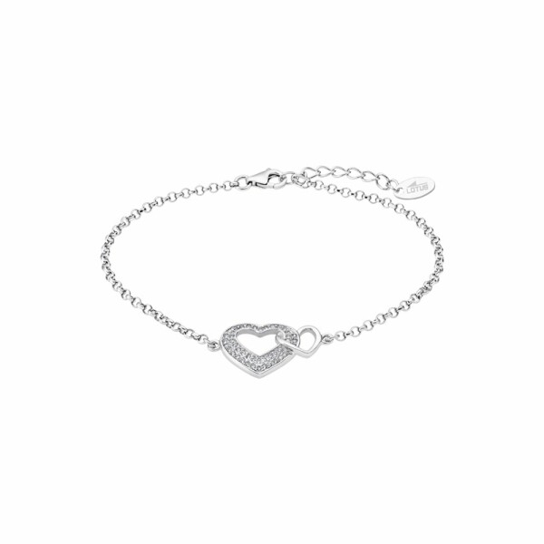 Bracelet Lotus Silver Moments en argent et strass