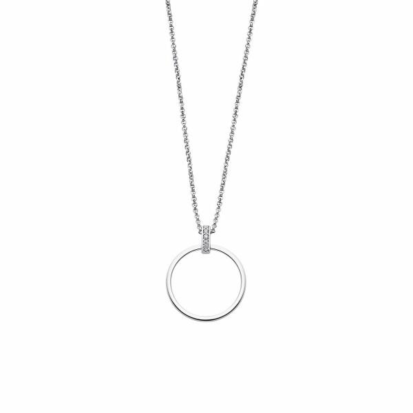 Collier Lotus Silver Pure Essential en argent et strass
