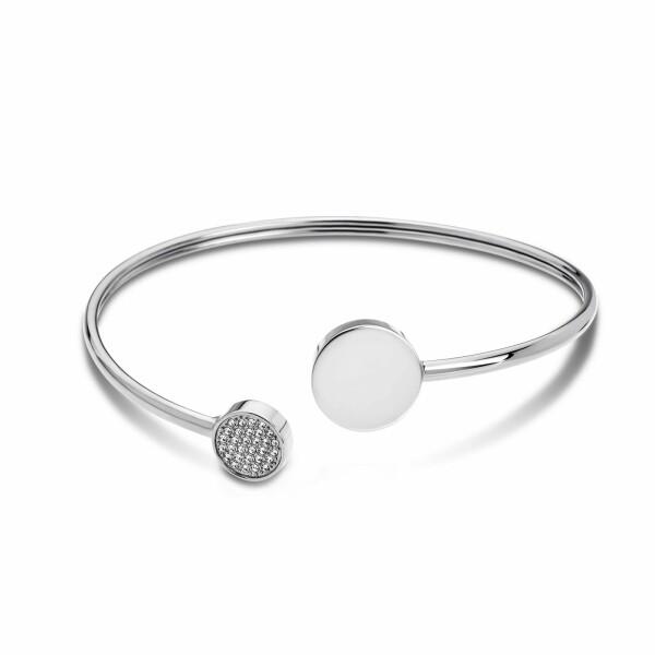 Bracelet Lotus Style Bliss en acier et oxydes de zirconium