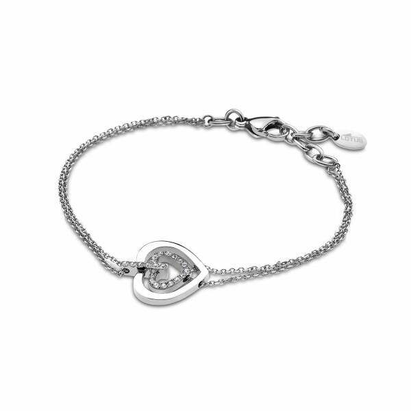 Bracelet Lotus Style Bliss coeur en acier
