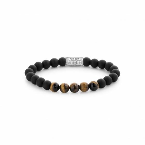 Bracelet Rebel & Rose Stones Only en pierre naturelle