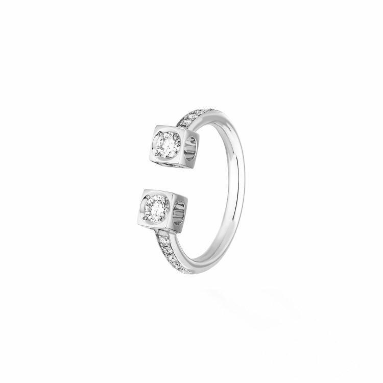 Bague dinh van Le Cube Diamant en or blanc et diamants grand modèle