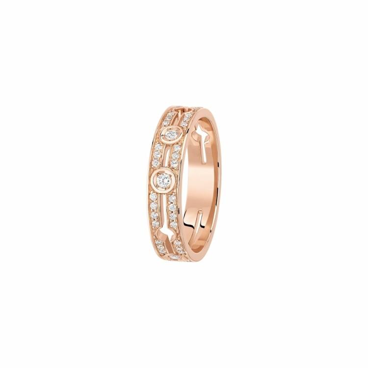 Bague dinh van Pulse dinh van petit modèle en or rose et diamants