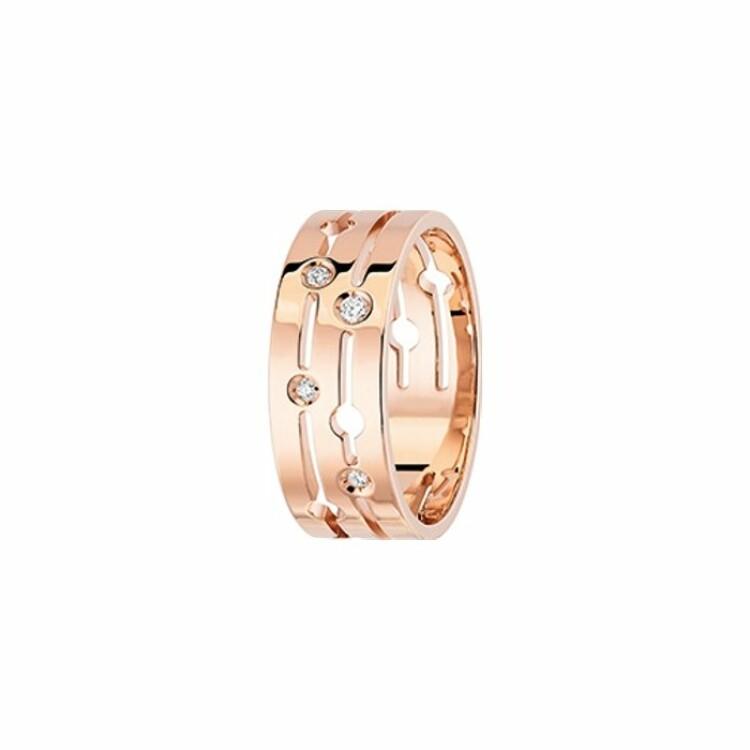 Bague dinh van Pulse dinh van en or rose et diamants moyen modèle