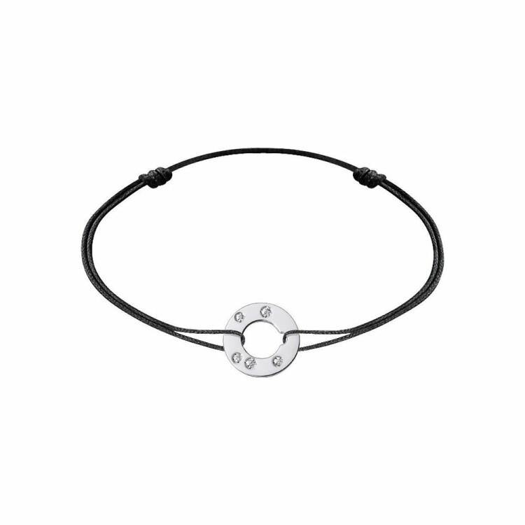 Bracelet sur cordon dinh van Cible en or blanc et diamants