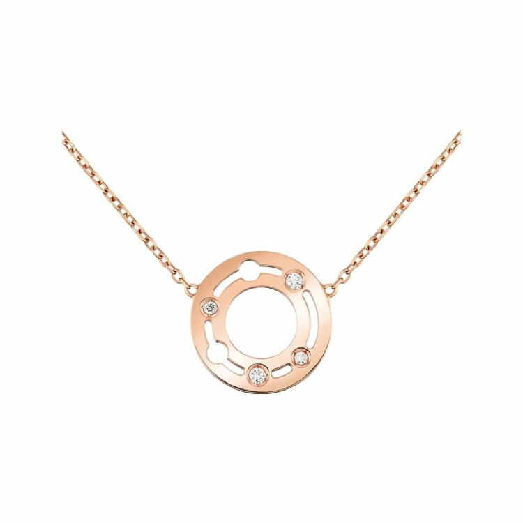 Collier dinh van Pulse dinh van en or rose et diamants