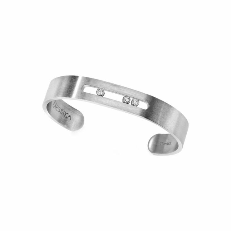 Bracelet Messika Move Titanium en titane et diamants