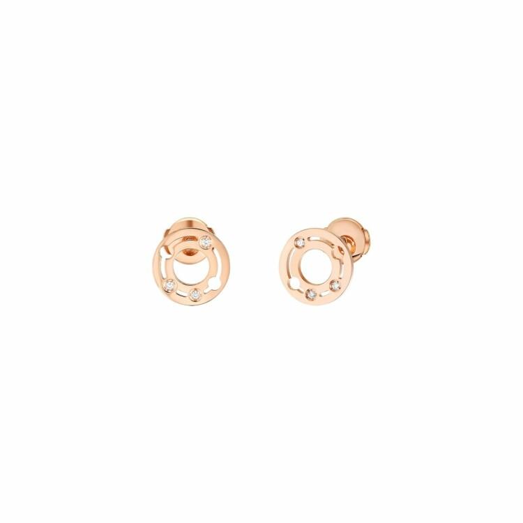 Boucles d'oreilles dinh van Pulse dinh van en or rose et diamants