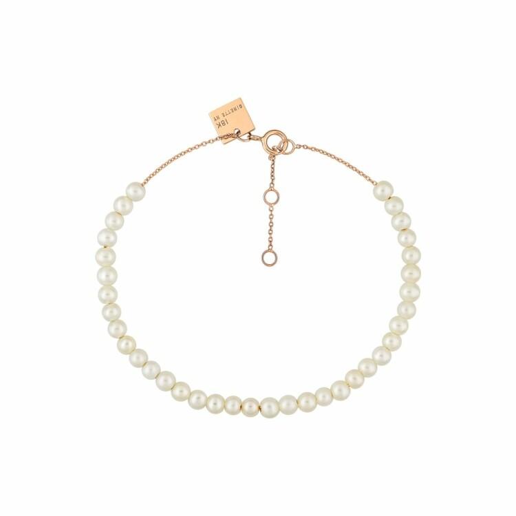 Bracelet GINETTE NY MARIA en or rose et perle de culture d'eau douce