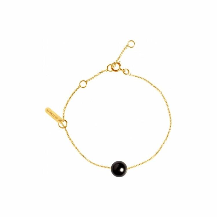 Bracelet Claverin Simply Pearly en or jaune et perle de Tahiti