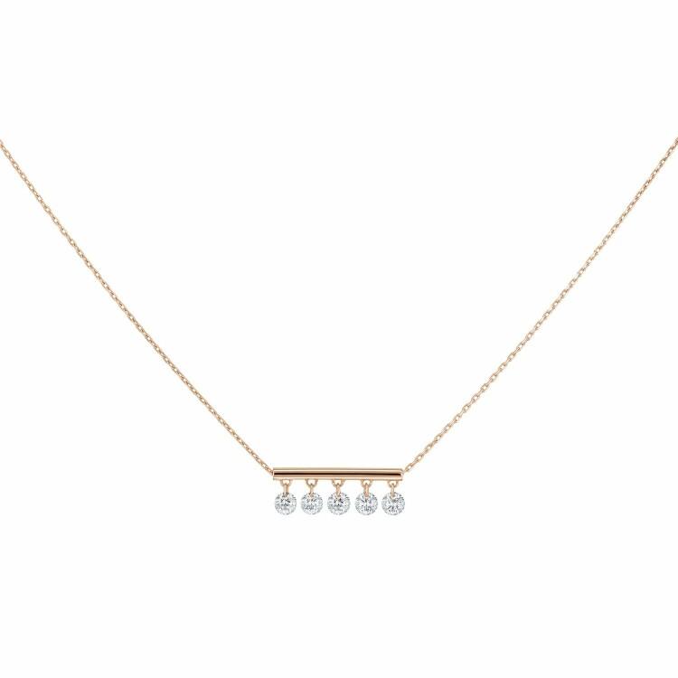 Collier LA BRUNE & LA BLONDE PAMPILLES en or rose et diamants de 0.50ct