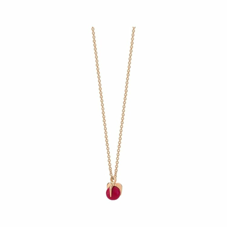 Collier GINETTE NY MARIA en or blanc et corail