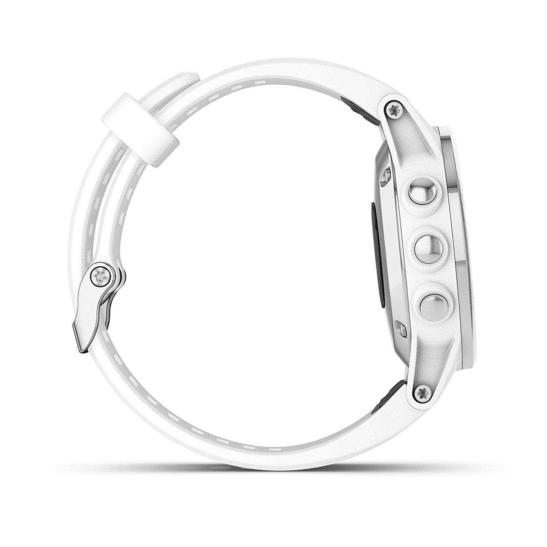 Montre connectée Garmin fenix 5S Plus Sapphire blanche avec bracelet blanc vue 5