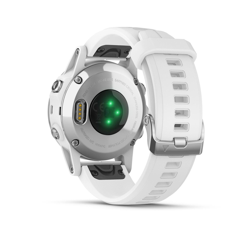 Montre connectée Garmin fenix 5S Plus Sapphire blanche avec bracelet blanc vue 6