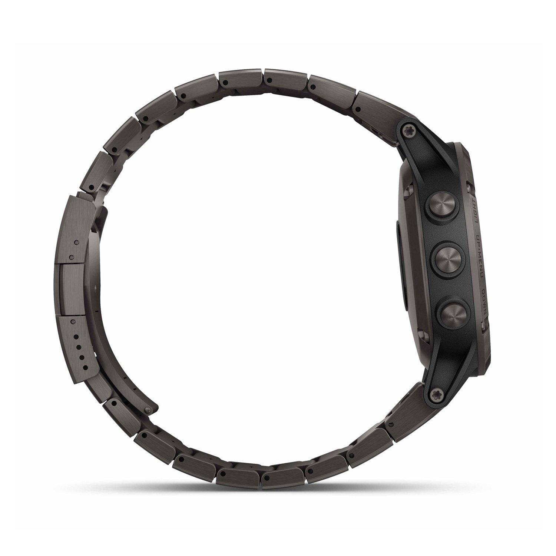 Montre connectée Garmin fenix 5 Plus Sapphire titane avec bracelet titane vue 6
